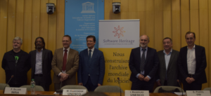 Speakers at Software Heritage opening ceremony at Unesco
