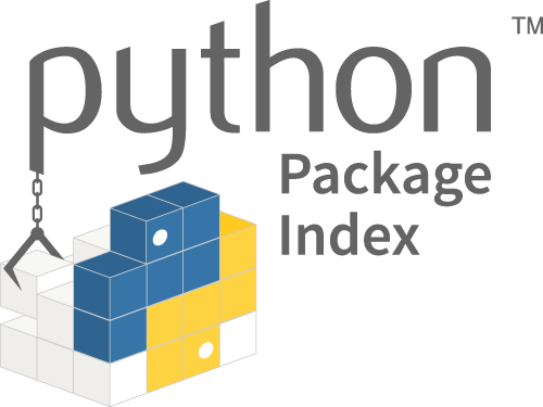 "The PyPI logo, including the text ""Python Package Index."""